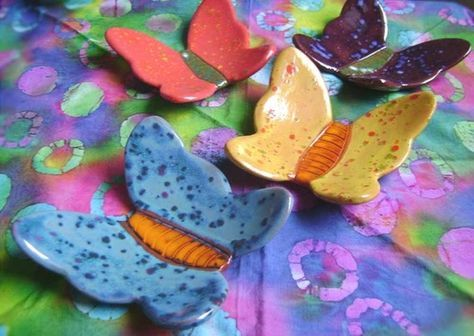 Pottery Art Project Ideas | Art Projects & Ideas: Clay / 1st gr. clay butterflies