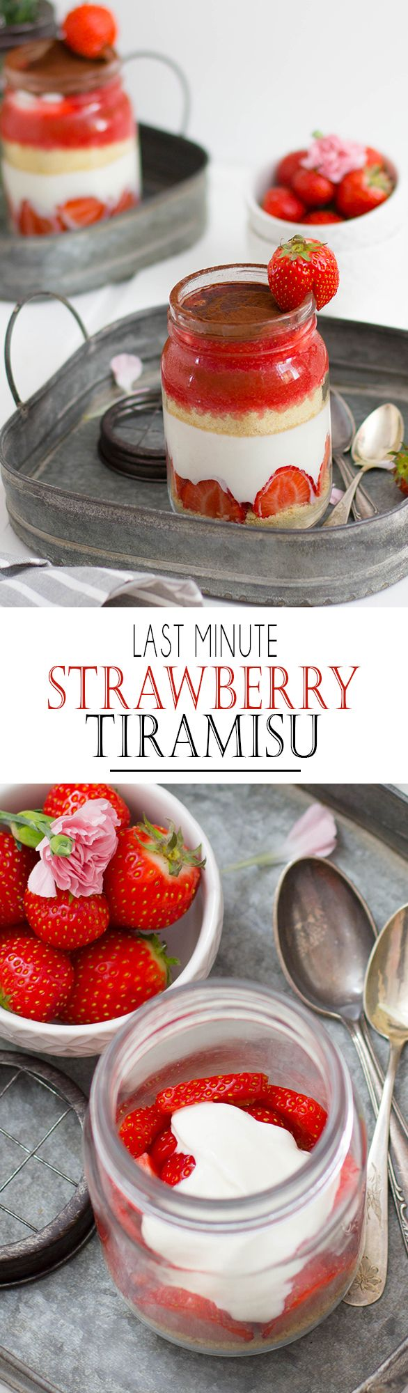 Last Minute Mother's Day Strawberry Tiramisu with Yoghurt | Schnelles Muttertags Erdbeer Tiramisu mit Joghurt
