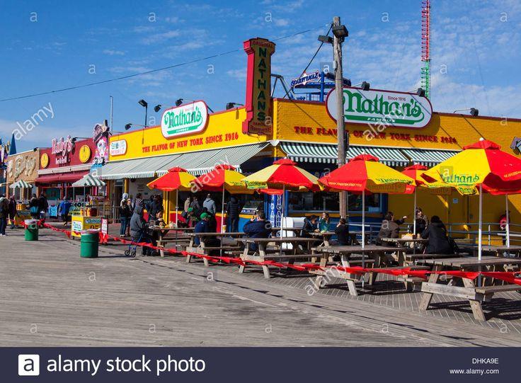 Nathan's Hot Dog Restaurant Coney Island, Brooklyn, New York ...