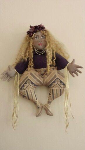 Hanging cloth doll
