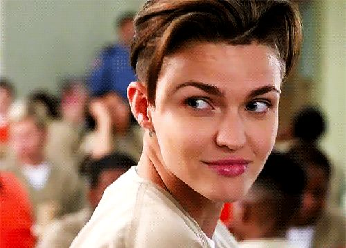 Pin for Later: 23 Insanely Sexy GIFs From Orange Is the New Black That Wink, Though When Ruby Rose made her entrance as Stella, every viewer's heart skipped a few beats. That wink!