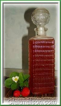 Liqueur de fraises.