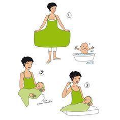 Tablier serviette sortie de bain en bambou