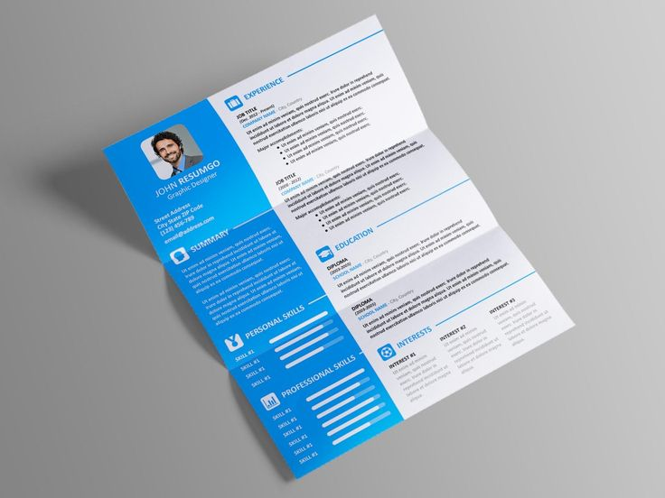 Free modern resume template with 2column layout carreira