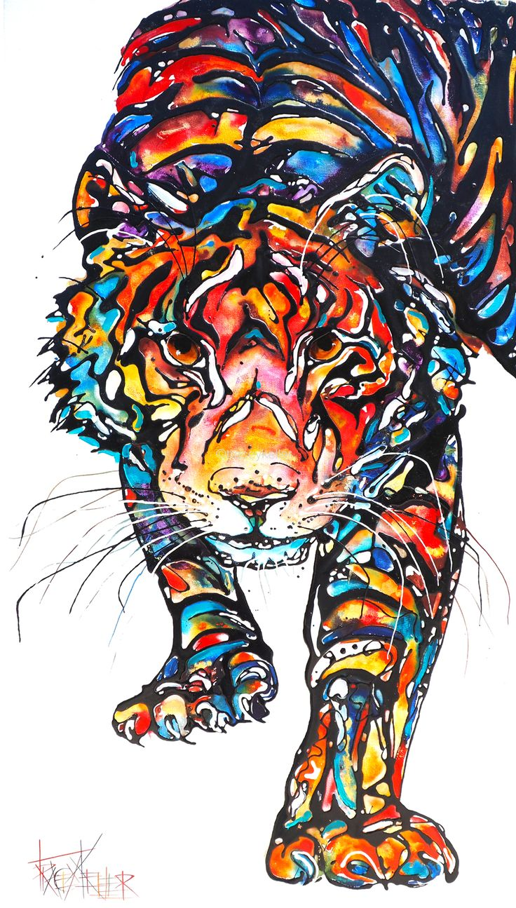 In Flow | Tiger Painting
