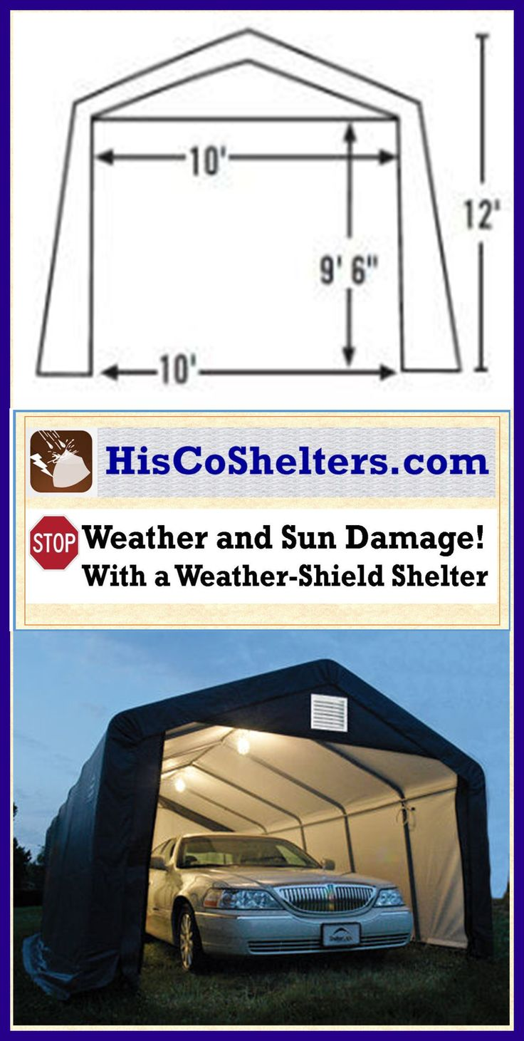 Shelter Logic Portable RV Garage Shelters. **Sizes from 13 ...