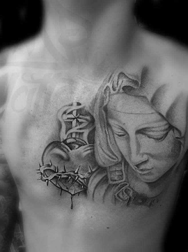 Madonna and sacred heart