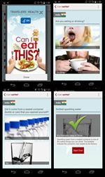 Help prevent travelers' diarrhea by using CDC's Can I Eat This? app.