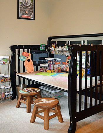 Η κούνια κοστίζει μια περιουσία, αν και χρησιμοποιείται για ελάχιστο χρόνο. Αν δεν τη χρειάζεστε για το επόμενο μωρό ή αν δεν θέλετε να την πετάξετε, μπορείτε να τη μεταμορφώσετε εύκολα σε νέα, πρακτικά έπιπλα!