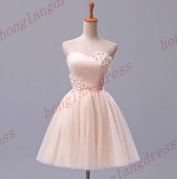 Short+bridesmaid+dress/Short+prom+dress/Short+by+honglangdress,+$80.00