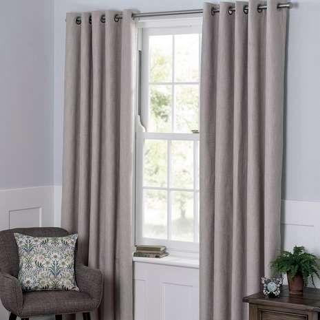 Boucle Natural Blackout Curtains | Dunelm