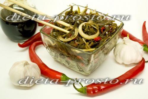 Салат из морской капусты. Корейская кухня (2, 3, 4 этапы диеты Дюкана)
