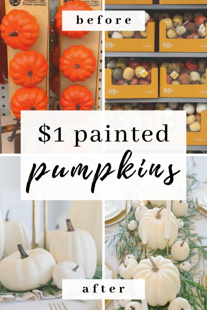 DIY Easy $1 chalk painted pumpkins #pumpkins #fall #falldecor #dollartree #chalk…