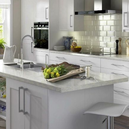 B&q It Stonefield White Classic Style Shaker Kitchenkitchen Captivating B & Q Kitchen Design Design Inspiration