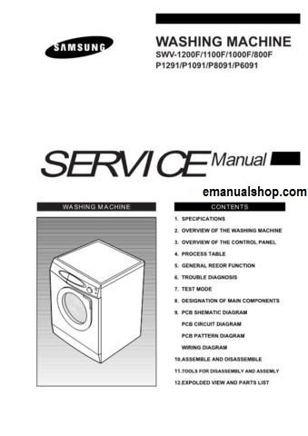samsung washing machine service manual