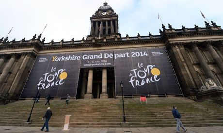 The 2014 Tour de France to start in Yorkshire, for a three day pass through Britain, finishing at the Mall in front of Buckingham Palace.