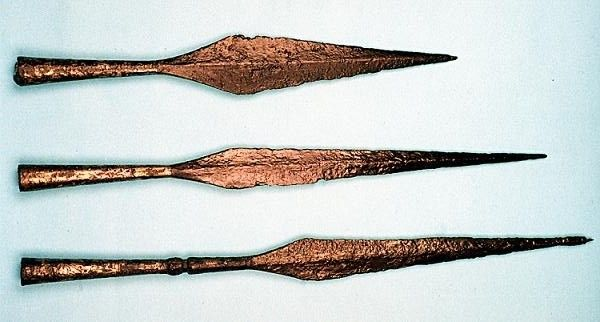 Spears found in Ostrów Lednicki, Poland. Culture: Slavic (West Slavs - early Polish state) Timeline: c. 10th-11th century
