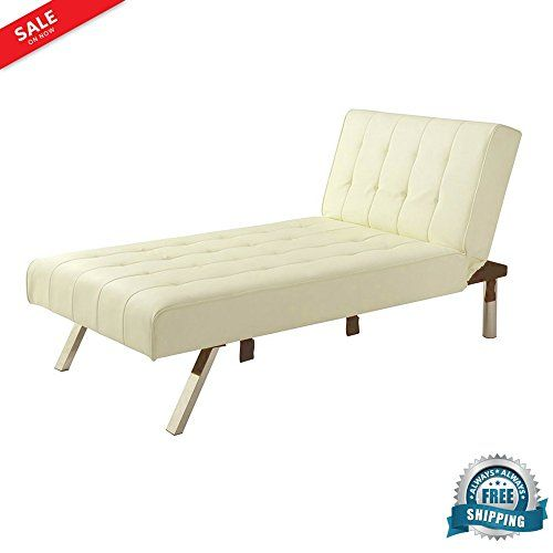 Reclining Chaise Lounge Chair Indoor Sleeper Faux Leather ...