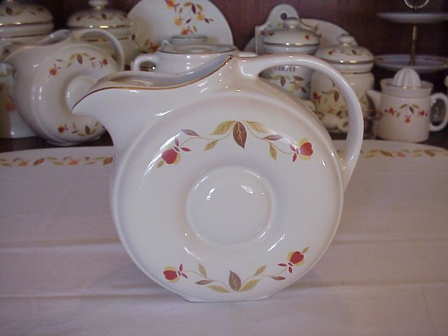 Hall China Jewel Tea Autumn Leaf Donut Water Jug : autumn leaves dinnerware - pezcame.com