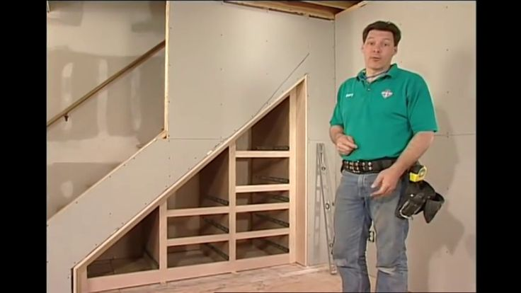 Learn how to utilize the empty space under your staircase by building a storage space in the unused area.