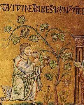 Noé agriculteur (mosaïque dans la Basilique Saint-Marc, CC)
