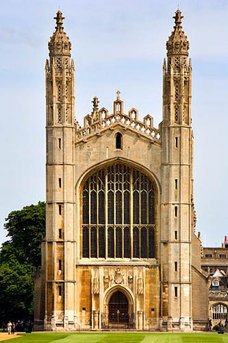 Kings College Chapel - Cambridge, England.  Go to www.YourTravelVideos.com or just click on photo for home videos and much more on sites like this.
