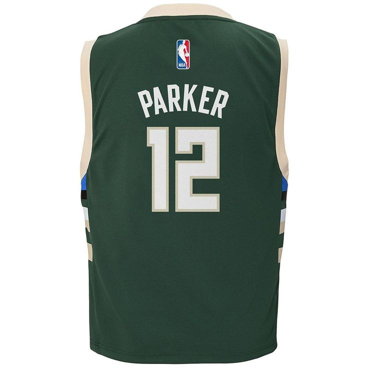 Boys 8-20 Adidas Milwaukee Bucks Jabari Parker NBA Replica Jersey, Size: Medium, Green
