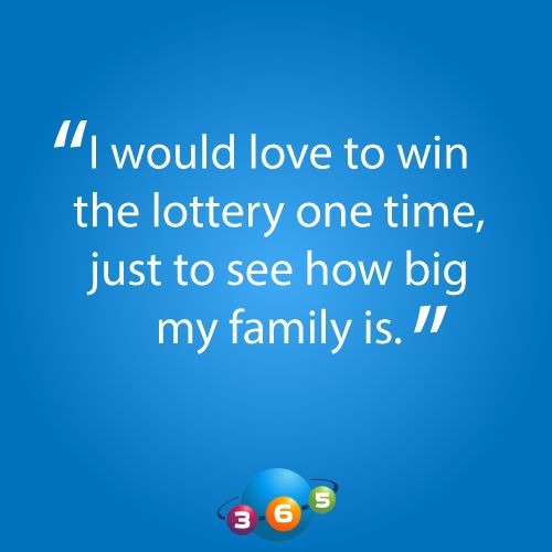 good reason why you want to win the lottery at 365lottoworld.com