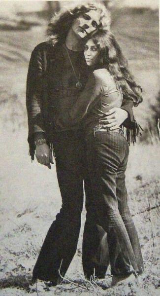 Robert Plant w/ his ex-wife