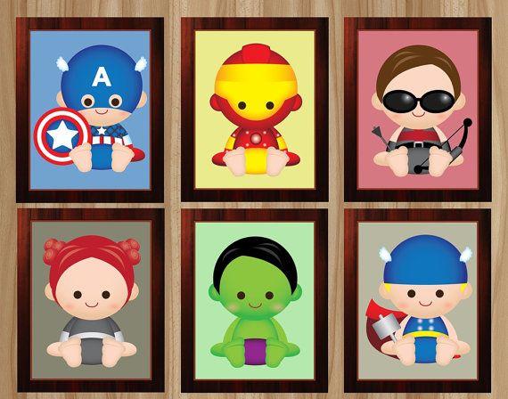 FLASH SALE! 12 Prints! Avengers Nursery, Superhero Nursery, Avengers Baby, Baby Avengers, Baby Superhero, Avengers Wall Art, Avengers
