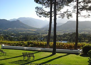 The view from La Petite Ferme, Franschoek, South Africa. Best lunch in the world ever.