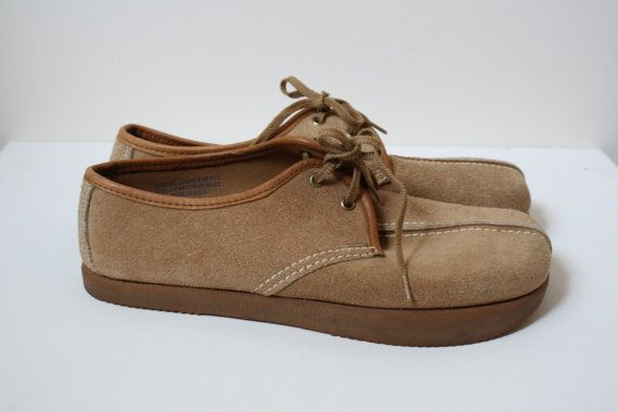 Earth Shoe - 1970s original Anne Kalso Earth Shoe Suede leather made in USA M 8 1/2 W 10