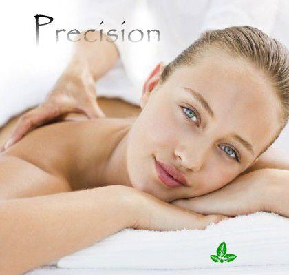Ulei de masaj corporal Precision  Daca aveti nevoie de o muza, sursa de inspiratie sau sunteti in situatia de a schimba ceva in viata dumneavosatra, acest ulei de masaj corporal este ideal pentru astfel de momente.  Stimuleaza intuitia, diminueaza rapid, starile de irascibilitate si sporeste considerabil puterea de concentrare. www.lorinlab.com