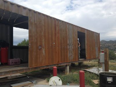 Shipping Container Homes: 2 x Shipping Containers, - The Container Restaurant, - Durango, Colorado, http://homeinabox.blogspot.com.au/2013/09/2-x-shipping-containers-container.html