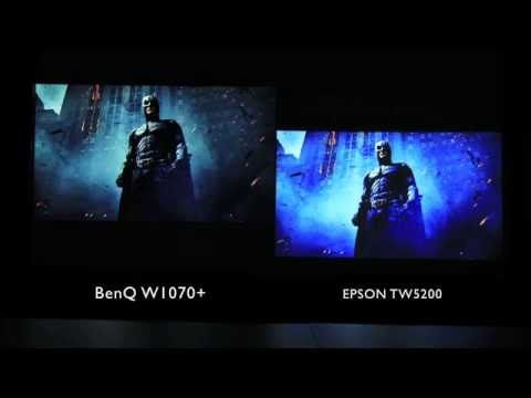 BenQ W1070+ home video projector side by side video - YouTube