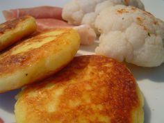 pancakes de purée mousseline au fromage