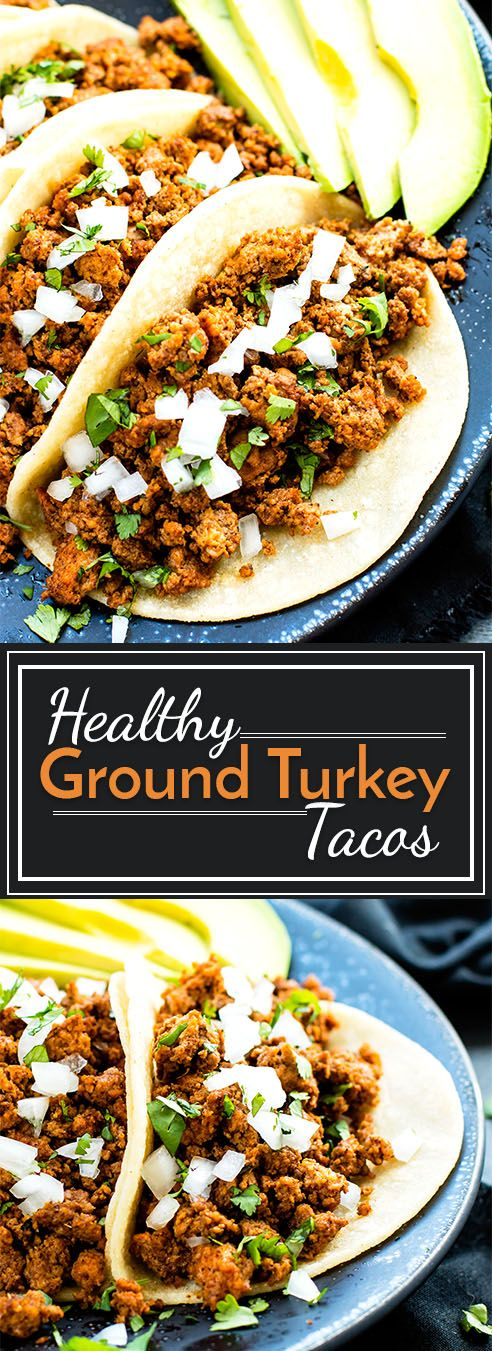Ground turkey tacos are made with a homemade taco seasoning mix to give you healthy, gluten-free and paleo taco meat!  These ground turkey tacos make perfect party food or an easy Mexican dinner recipe! (Vegan Gluten Free Casserole)