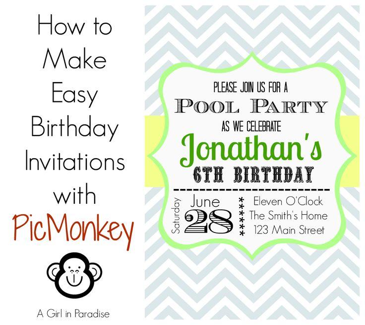 59 best Birthday Invitations Temmplates images on Pinterest