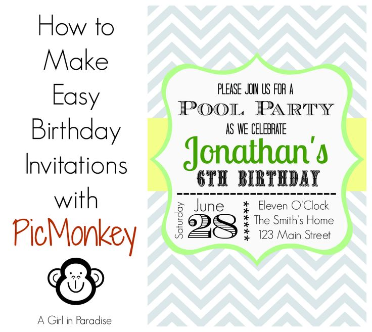 Best Birthday Invitations Temmplates Images On Pinterest - Create birthday invitation ecard