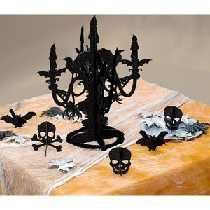 Halloween black 3d paper candelabra ~ for SALE ~ #HALLOWEEN #candelabra #centerpiece home #decor or #gift idea ~ www.CandelabraCenterpieces.info