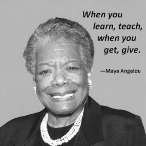 I was blessed to have had a chance to interview Maya Angelou - what a great legacy she has gifted the world! ~Shell
