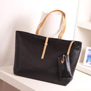 Korean Candy Color Women Handbag Leisure Bucket Handbag Sling Shoulder Bag Large Capacity Ladies Party Tote Bag with Coin Purse