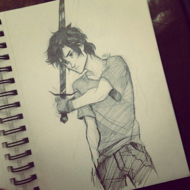 Nico di Angelo - One of the few drawings I have seen of him I can actually imagine to be realistic.