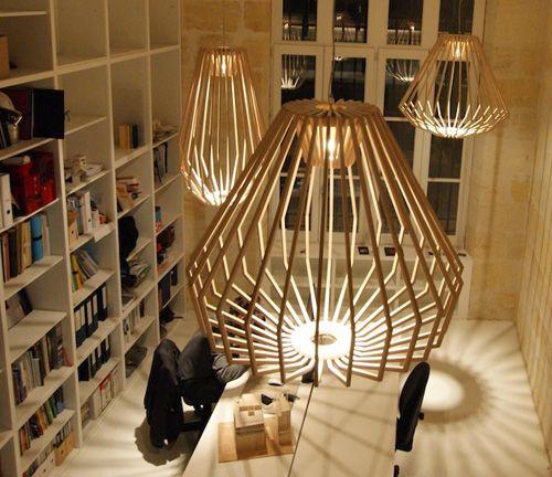 Replica Designer Wooden Lamp Glulam Wide