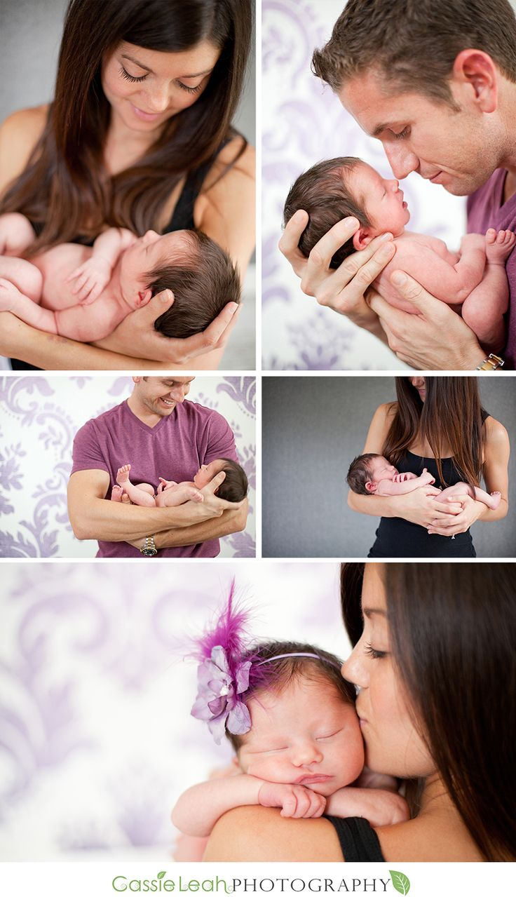 Newborn baby girl with #mommy and #daddy