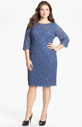 Alex Evenings Embellished Lace Sheath Dress (Plus Size) available at #Nordstrom