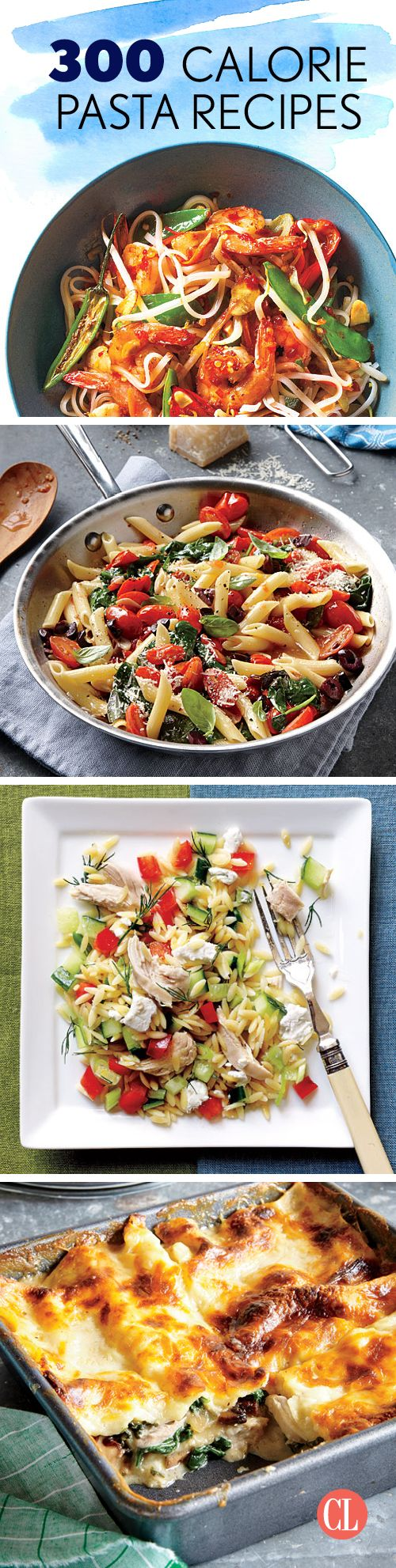 Even when cooking at home, pasta recipes can head toward calorie-heavy territory quite easily. Between the noodles, sauces, and any toppings you might sprinkle on, your plate could potentially tip the scale over 500 calories. These low-calorie pasta recipes help you portion control and keep your meal manageable. | Cooking Light