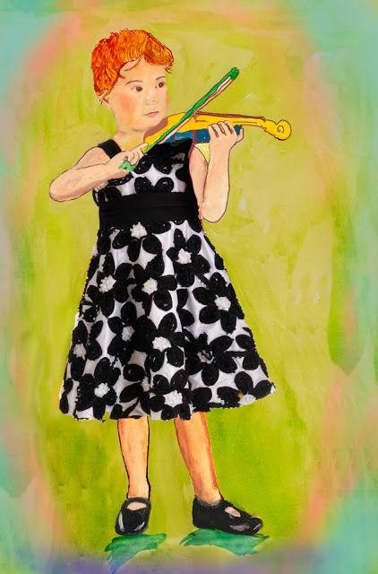 Tom's Blog: Saffi with her Violin