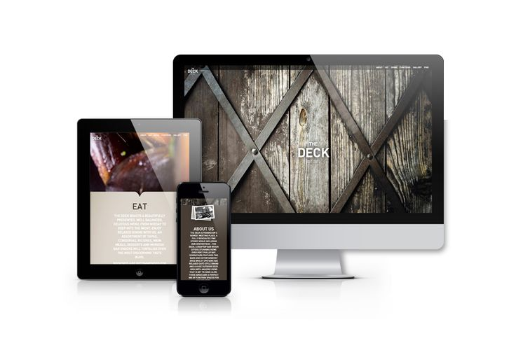 The Deck bar Frankston, Melbourne. Website design – Advertising Associates