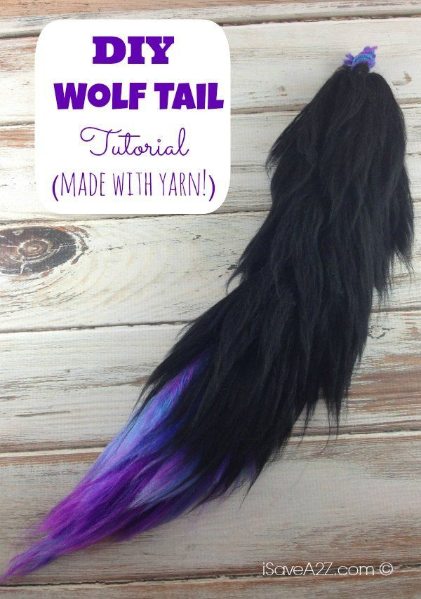 Check out this easy and fun Wolf Tail Tutorial! It's made with yarn and a brush! It looks so real and feels so soft! Pick your fav colors and make one!